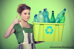 Woman-Recycling-Plastic