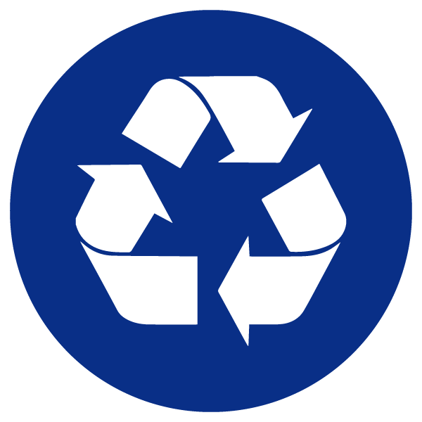 blue heading icons recycle