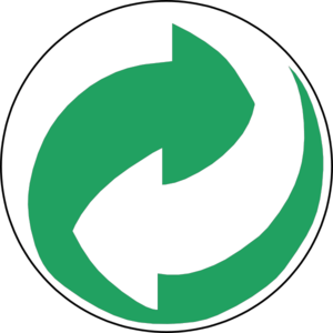 recycling symbol green md