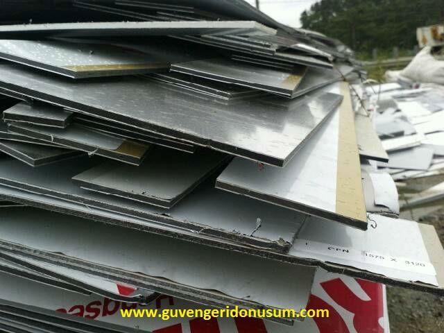 Aluminum composite panels scraps ofcuts